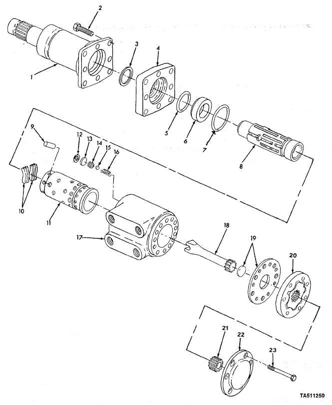 figure 77  steering orbitrol and column assembly